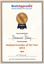 Brett national paving installer of the year 2013