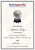Brett Approved Paving Installer 2012